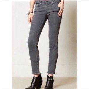 AG GREY Stevie Ankle Slim Straight Jeans 28R
